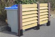 Cache conteneurs de poubelles - Hauteur hors sol (m) : 1.2