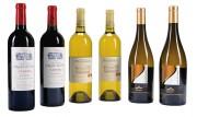 Cadeau de 6 bouteilles de vin panachées - 2 bouteilles vin rouge - 4 bouteilles vin blanc