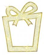Cadeau lumineux 2D LED - Eclairage LED - Dimensions : 135 x 110 cm