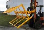 Cadre basculant pour evacuation de produits grande longueur - Volume 1300 m3  -  Loquet de sécurité