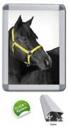 Cadre d'affichage angles plastique - Taille disponible : 32 mm - Tailles images : A0 - A1 - A2 - A3