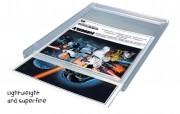 Cadre d'affichage plastique transparent - Dimensions : 74x105 - 105x148 - 148x210 - 105x297 - 210x297 mm