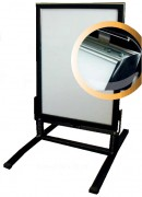 Cadre porte affiche sur ressort - Dimensions (cm) : 50 x 70