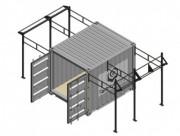 Cage container crossfit gym 2 Rigs outdoor - Espace extérieur pour entraînement crossfit + box mobile