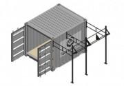 Cage container Rig crossfit outdoor - Box acier, rangement optimal du matériel d'entraînement