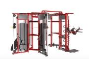 Cage de cross training 360° pour salle de fitness - Matériel professionnel de musculation haute-résistance