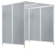 Cage double de pouliethérapie - Dimensions grillage : 50 x 50 mm