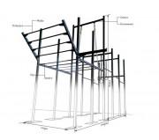 Cage fitness sur-mesure - Sur mesure - Couleurs personnalisées