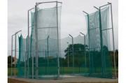 Cage lancer marteau - Avec 10 Poteaux et avancées en construction métallique carré