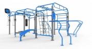 Cage outdoor pour musculation et fitness - Cage Street Workout en acier pour séances d'entraînement