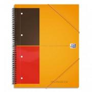 cahier bureau reliure intégrale 160p réglure ligné 6mm format 21x29,7cm MEETING BOOK OFFICE - oxford