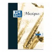 Cahier de musique et ct reliure piqûre 17x22cm 24p musique + 24 pages SEYES SUPER CONQUERANT - oxford