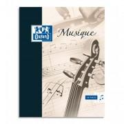 Cahier de musique et ct reliure piqûre 21x29,7cm 24p musique+ 24p SEYES SUPER CONQUERANT - oxford