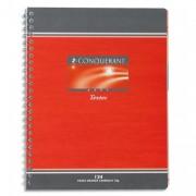 Cahier de textes reliure spirale 24x32cm 148p grands carreaux papier 70g NF 56 CONQUERANT SEPT - CONQUERANT 7