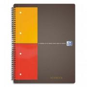 cahier notebook 80g 21 x 32 cm règlure 5x5 spirale perforé - oxford