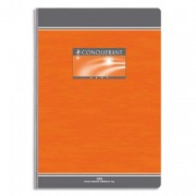 Cahier reliure brochure 17x22 cm 192 pages grands carreaux papier 70g NF 18 CONQUERANT SEPT - CONQUERANT 7