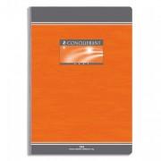 Cahier reliure brochure 17x22 cm 192 pages petits carreaux papier 70g NF 20 CONQUERANT SEPT - CONQUERANT 7