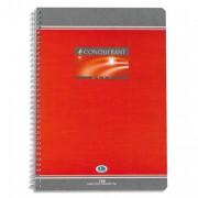 Cahier reliure spirale 17x22 cm 100 pages grands carreaux papier 70g NF 60 CONQUERANT SEPT - CONQUERANT 7