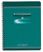Cahier reliure spirale 17x22 cm 100 pages petits carreaux papier 70g NF 62 CONQUERANT SEPT - CONQUERANT 7