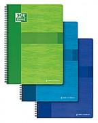 Cahier reliure spirale 24x32 cm 100 pages grands carreaux papier 90g SUPER CONQUERANT - oxford