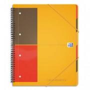 Cahier trieur reliure intégrale couv PP A4+ 180 pages réglure lignée 6mm - oxford