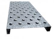 Caillebotis antidérapants en métal pour escaliers - Caillebotis antidérapant tôle pleine ou perforée