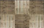 Caillebotis de jardin en bois - L100cm x l100cm