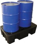 Bac de rétention en polyéthylène - Capacité : pour fûts : 230L à 485L - pour ibc/cuves : de 1120L à 1250L