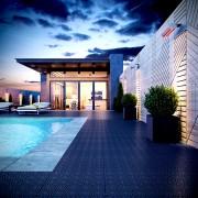 Caillebotis en polypropylene pour terrasse balcon piscines - Facile à poser. Excellentes capacités de drainage. Laisse le sous-plancher respirer convient aussi bien en intérieur qu'en extérieur