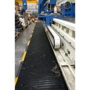 Caillebotis ergonomique PVC - Dimensions (m) : de 0,4 x 10 à 1,2 x 10 - Conforme norme DIN E 51130 : R10
