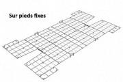 Caillebotis métal sautoir à avancées - Matière : Métal galvanisé à chaud