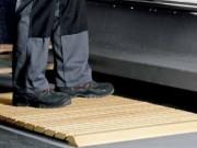 Caillebottis bois de travail - Dimensions (cm) : 80 à 150  Epaisseur (mm) : 35  Matériau :  hêtre