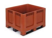 Caisse à parois pleins - Dimensions : L.1200 x lg.1000 x H.750 mm - Capacité  : 543 L - Résistance de charge : 450 kg