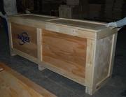 Caisse bois à panneaux - 6 panneaux en bois massif - réutilisables