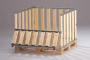 Caisse bois avec porte rabattable - Avec porte mi-rabottable dans le sens longueur, 39130