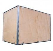 Caisse bois transport charnière en acier - Homologuée ONU