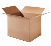 Caisse carton simple cannelure - Dimensions : 140x90x80