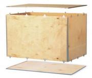 Caisse d'exportation pliante - Dimensions extérieures (L x l x H) mm : De 300 x 200 x 200 à 1200 x 1000 x 1000