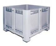 Caisse de manutention polyéthylène 520 L - Dimensions extérieures : 1200x1000x760 mm - Dimensions intérieures : 1110x910x605 mm