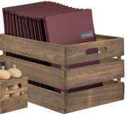 Caisse de rangement en bois laqué - - Dimensions : 11,6 x 24 x 14,2 cm