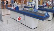 Caisse de sortie pour supermarché 65 à 250 cm