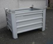 Caisse de stockage métallique - Charge maxi : 1500 kg - Gerbage 5/1