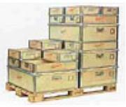 Caisse de transport bois avec poignées - Munie de poignées et de tasseaux