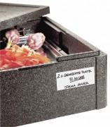 Caisse de transport GN 1/1 isotherme et empilable - Dimensions: 59,5x39x12 cm - Poids: 0.4 kg