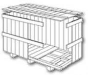 Caisse en bois pour matériel volumineux - Caisse