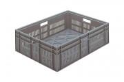 Caisse en plastique fonds et côtés ajourés 800 x 600 - Dimensions extérieures (L x P x H) : Jusqu'à 800 x 600 x 410 mm