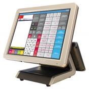Caisse enregistreuse tactile à double écran - Dimensions (LxPxH) : 360 x 300 x 370 (mm) - Ecran 15