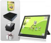 Caisse enregistreuse tactile café restaurant - Pack avec : Logiciel - Ecran tactile - Imprimante ticket de caisse - Tiroir caisse