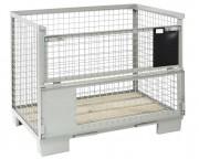 Caisse europool grillagée - Structure métallique grillagée  - Charge maxi : 1500 kg
