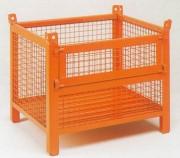 Caisse grillagée à demi-porte rabattable - Charge admissible : 800 kg